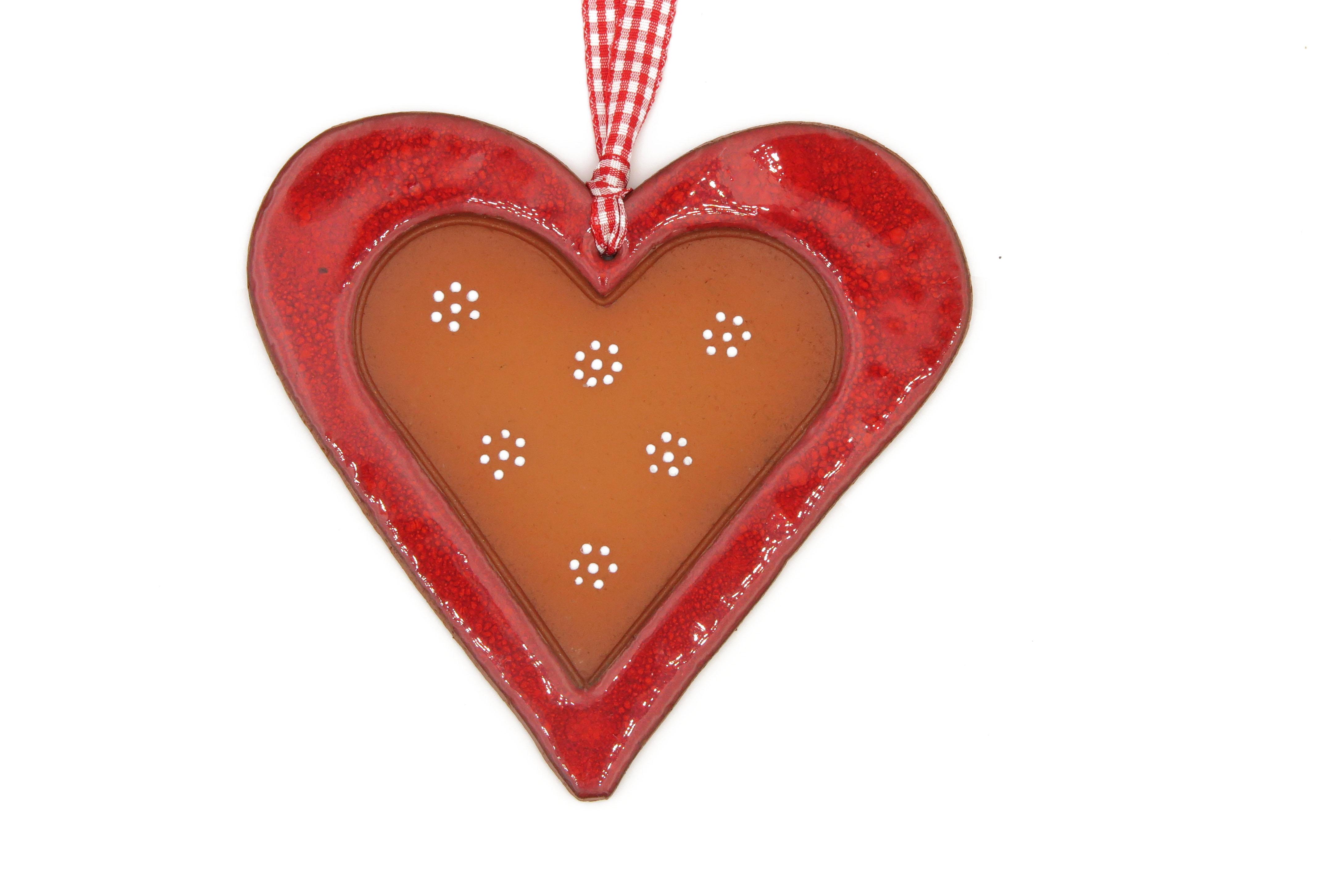 Herz Keramik Geschenk Anhänger  rot/ L 13cm