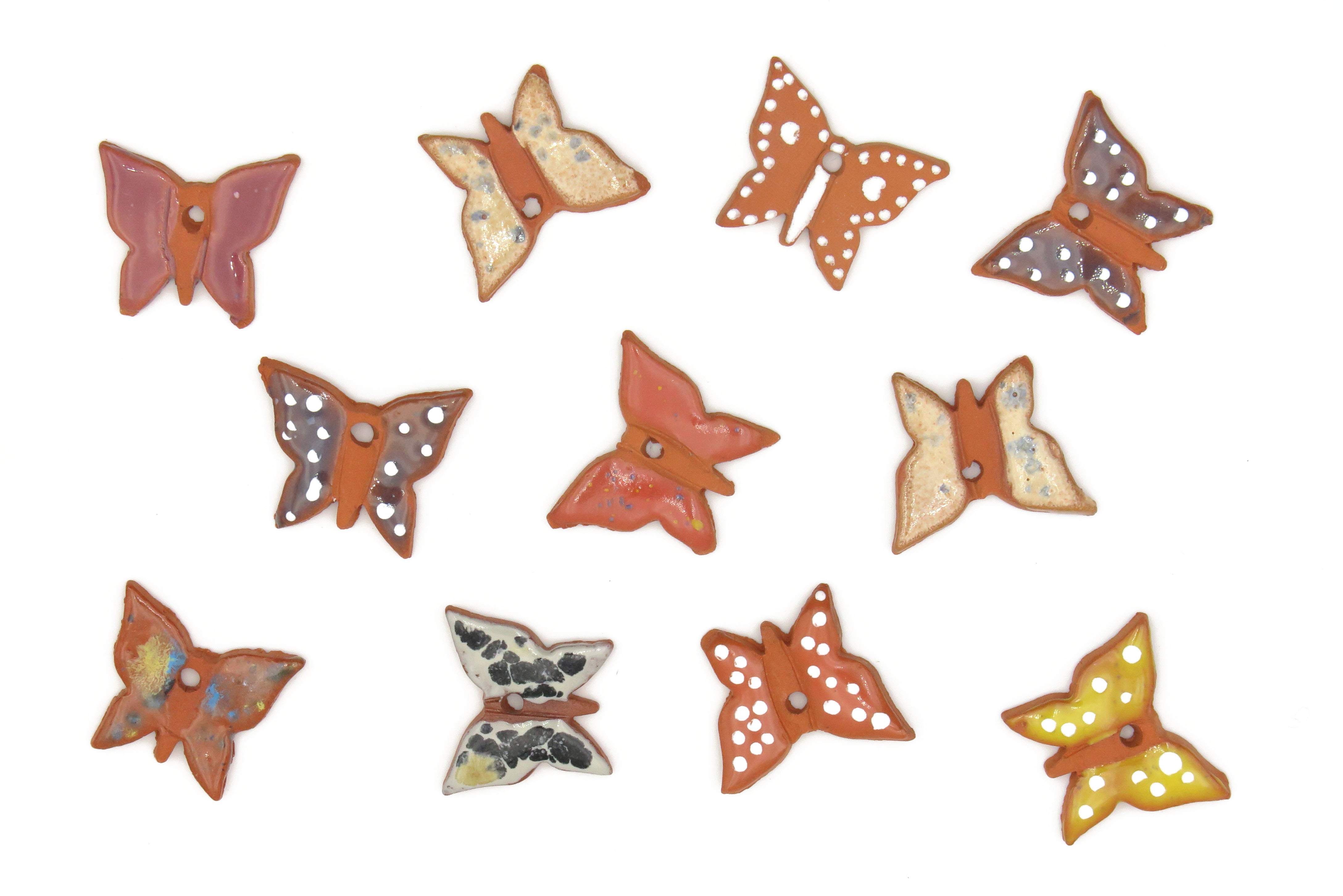 11 Mini Schmetterling Geschenk Anhänger /S  3cm