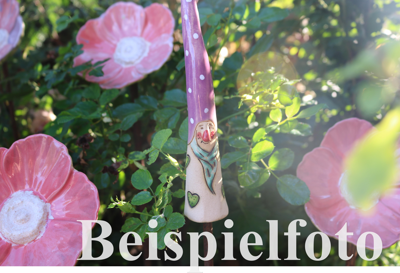 Frühlingsbote Mohnblume Insektentränke Vogeltränke Keramik hellrot