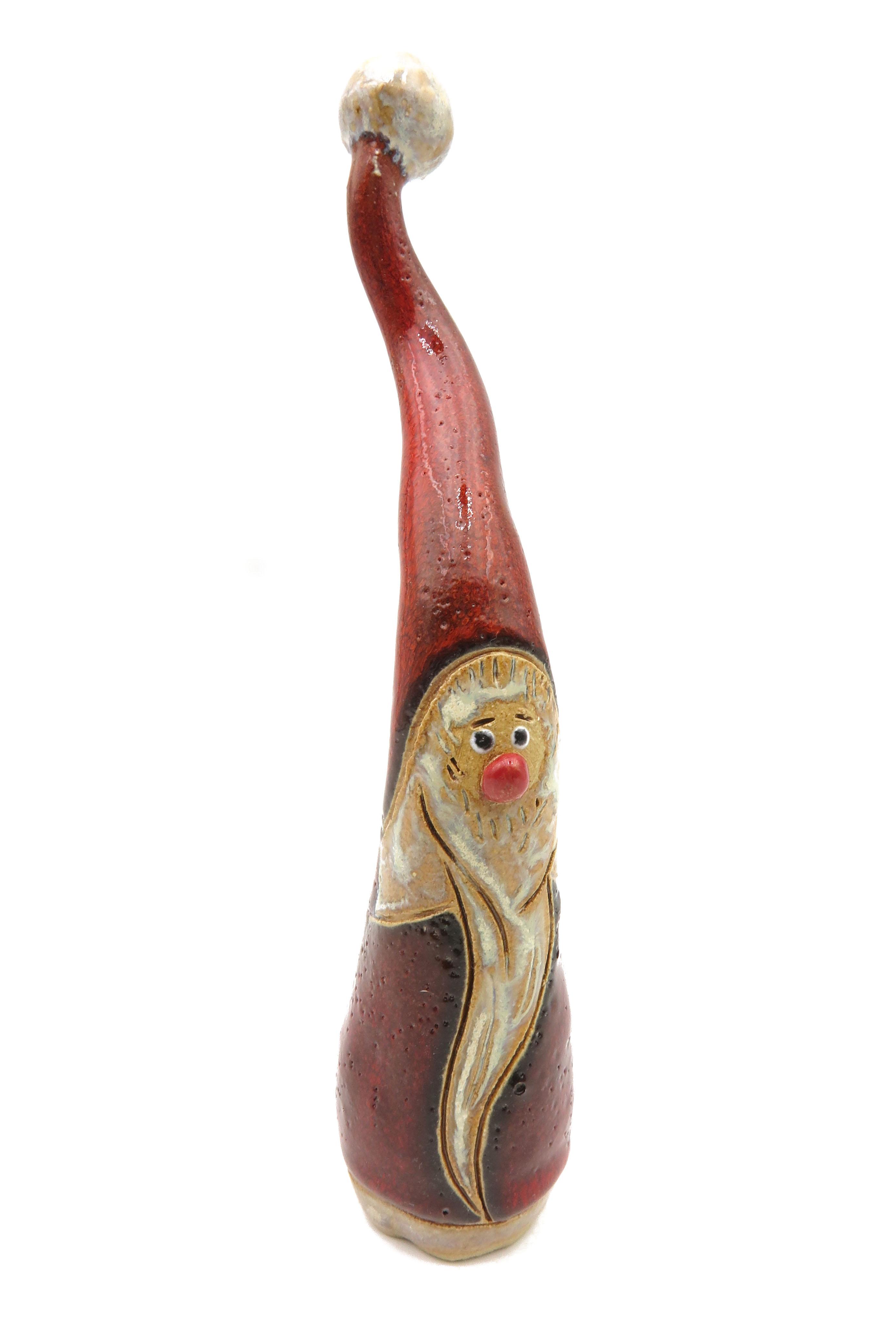 Weihnachtswichtel Nostalgie Keramik rot/  L 18cm
