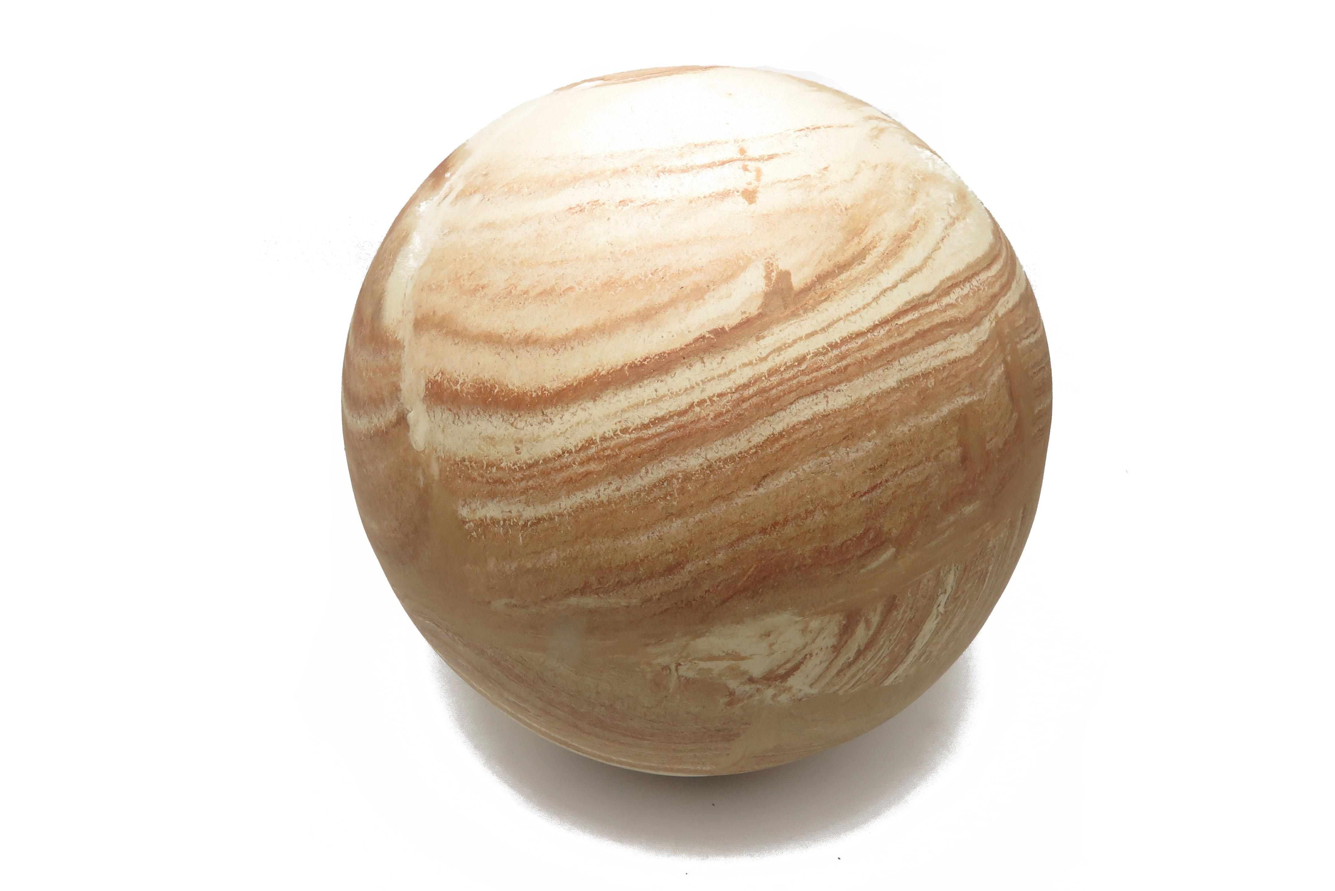 Kugel wie aus Stein gehauen/ L 28 cm