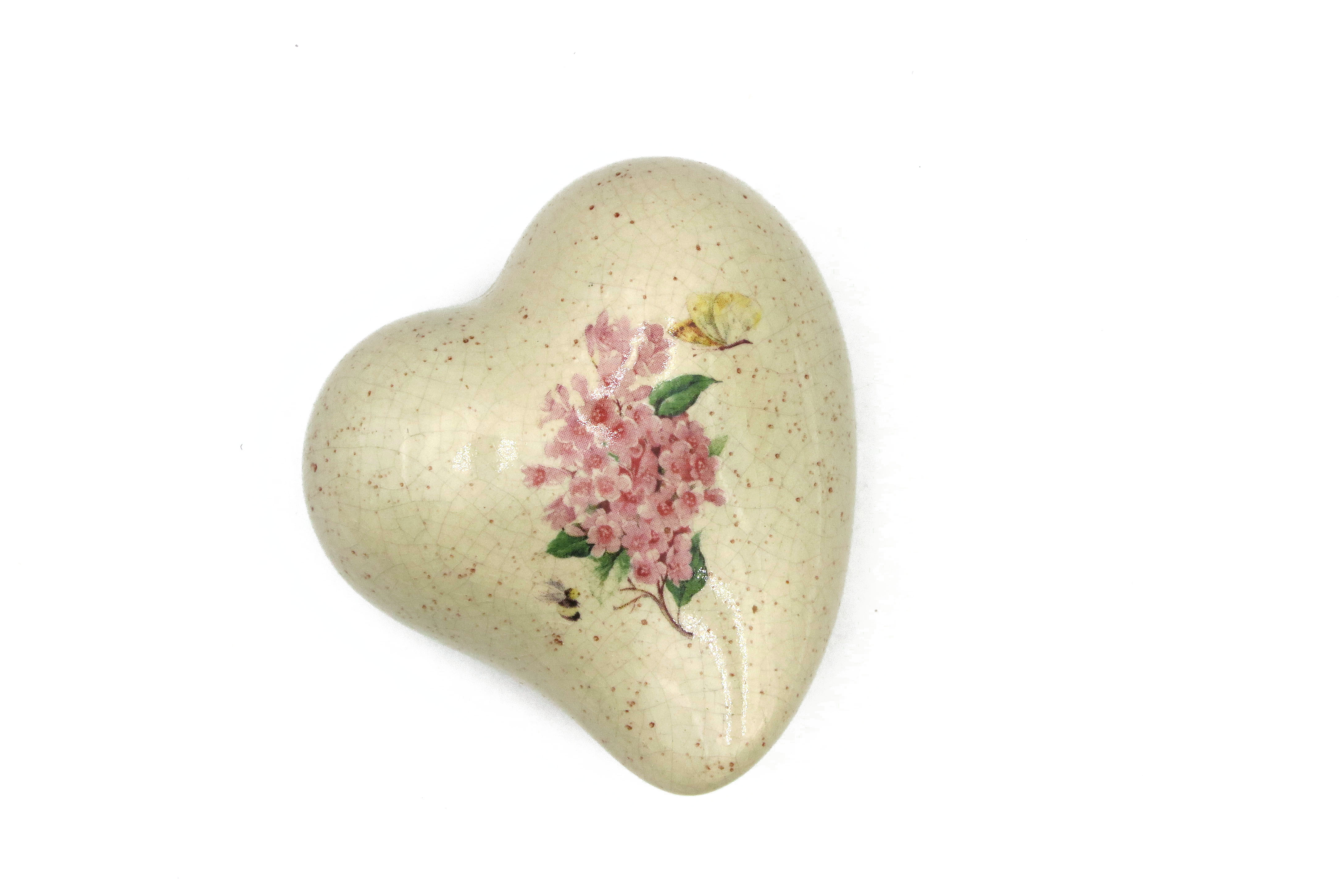 Herz mit rosa Blümchen /8 cm