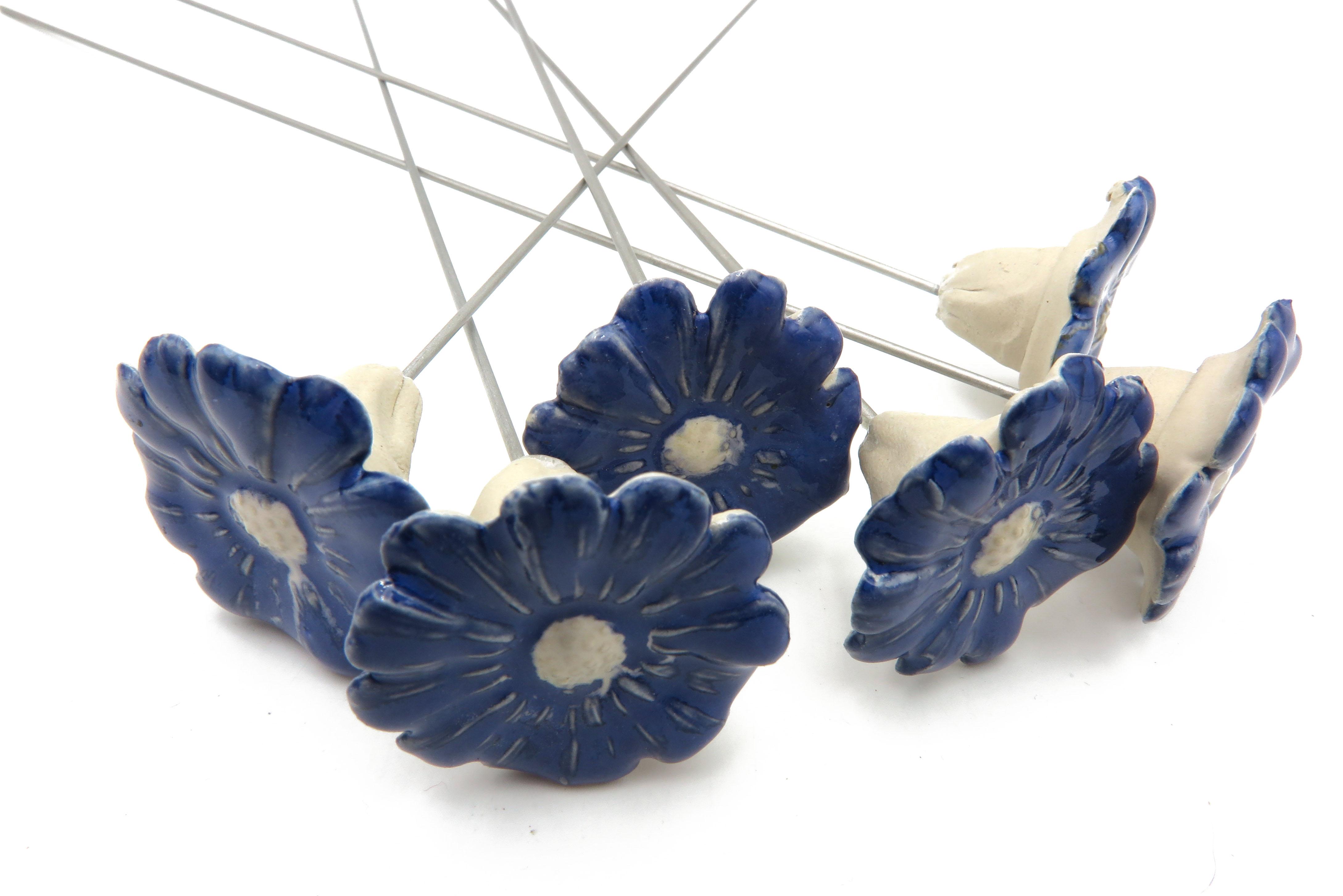 Steckblümchen Kornblume Blau/ 3,5cm