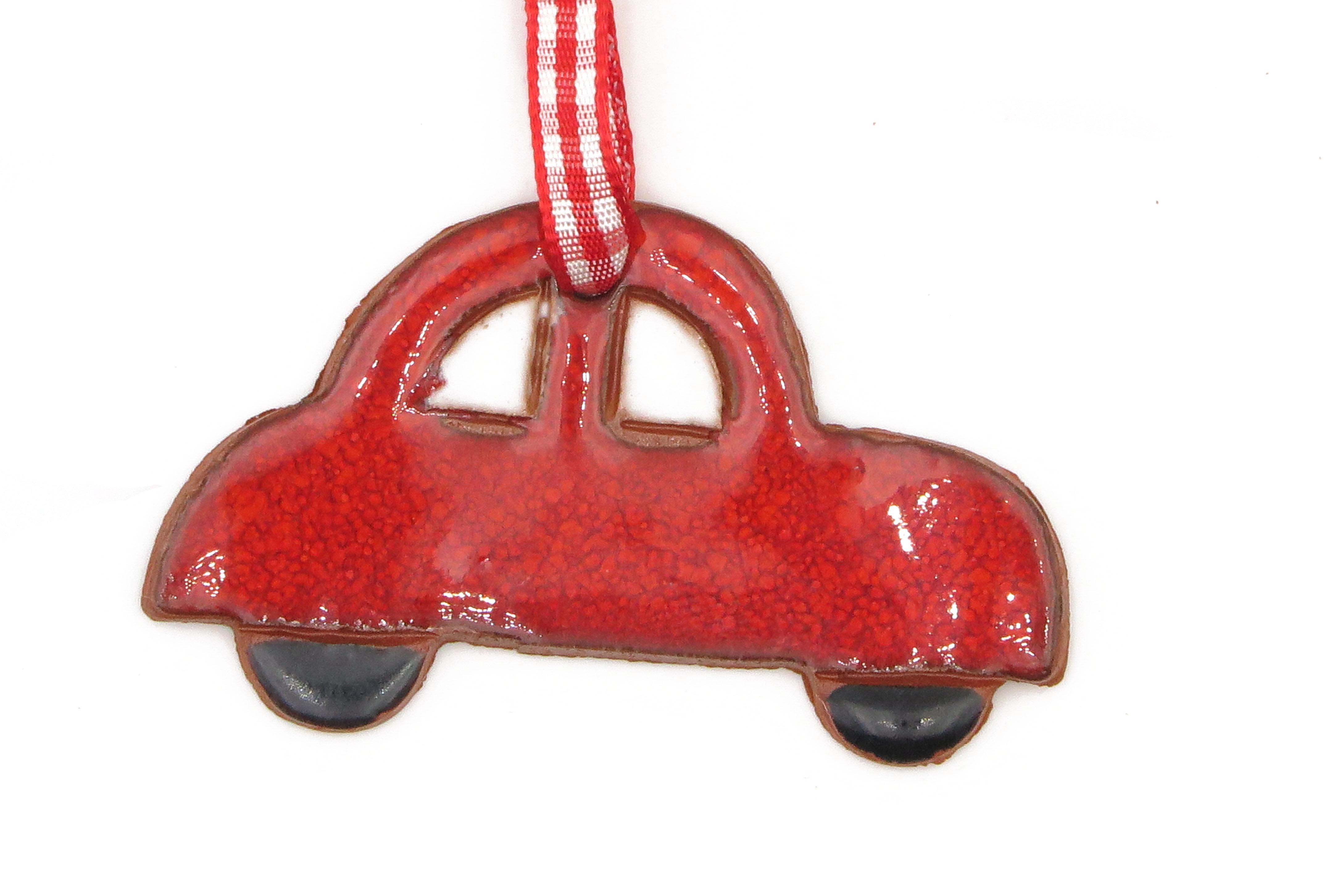 Auto Käfer Geschenk Anhänger Weihnachten rot/ M 6cm