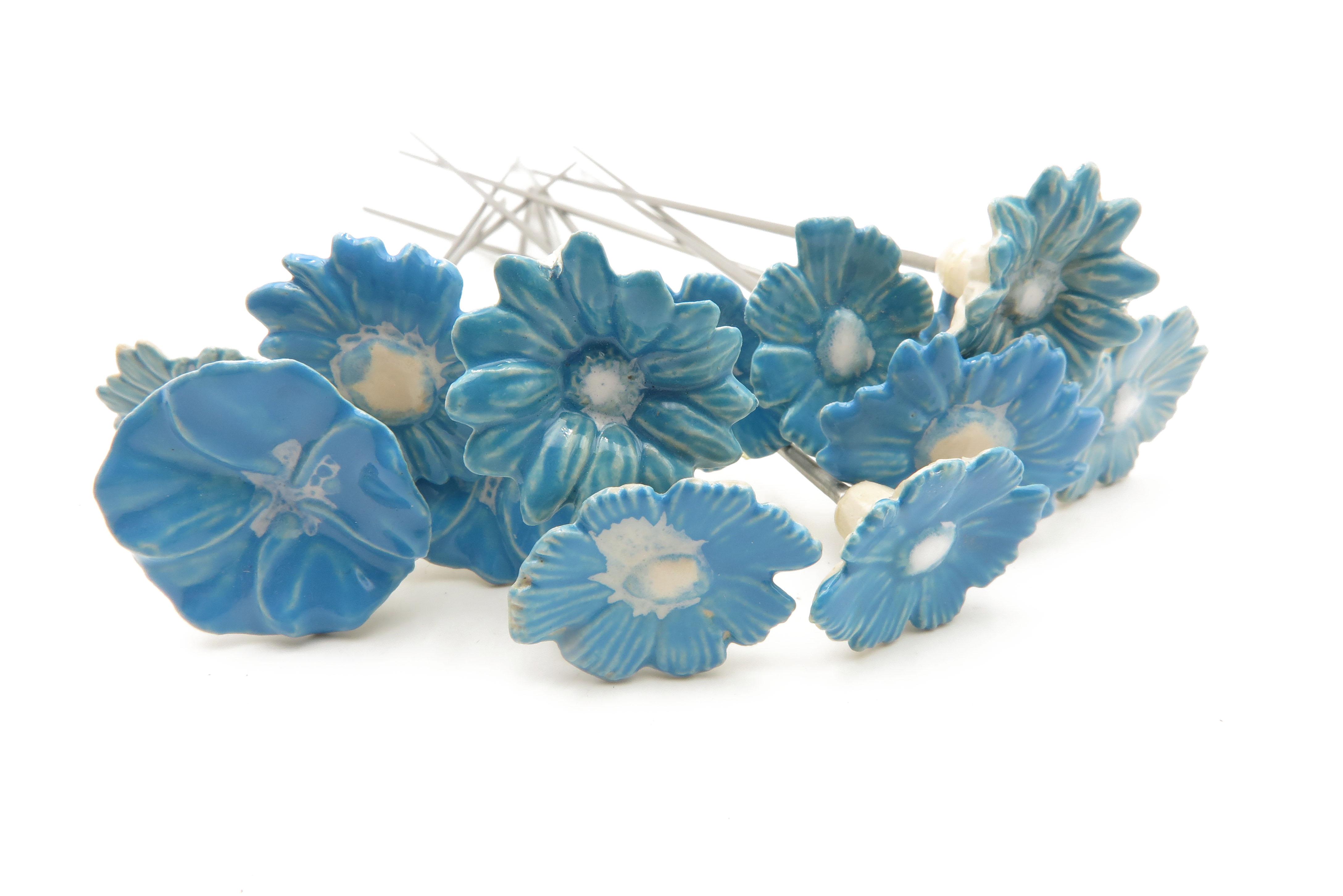 Steckblümchen Blau gemischt/ 3cm