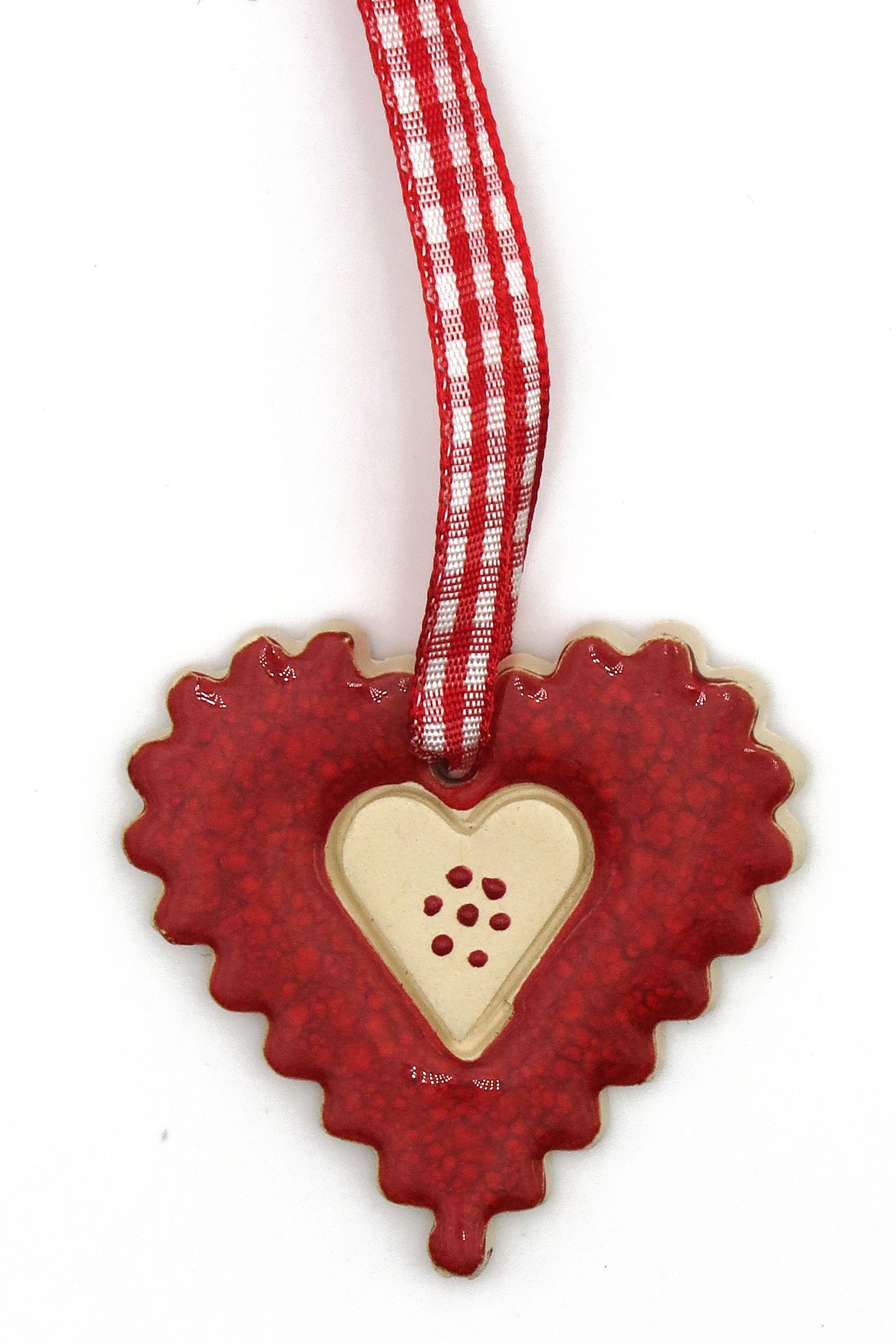 Herz Keramik Geschenk Anhänger/ M 4,5cm