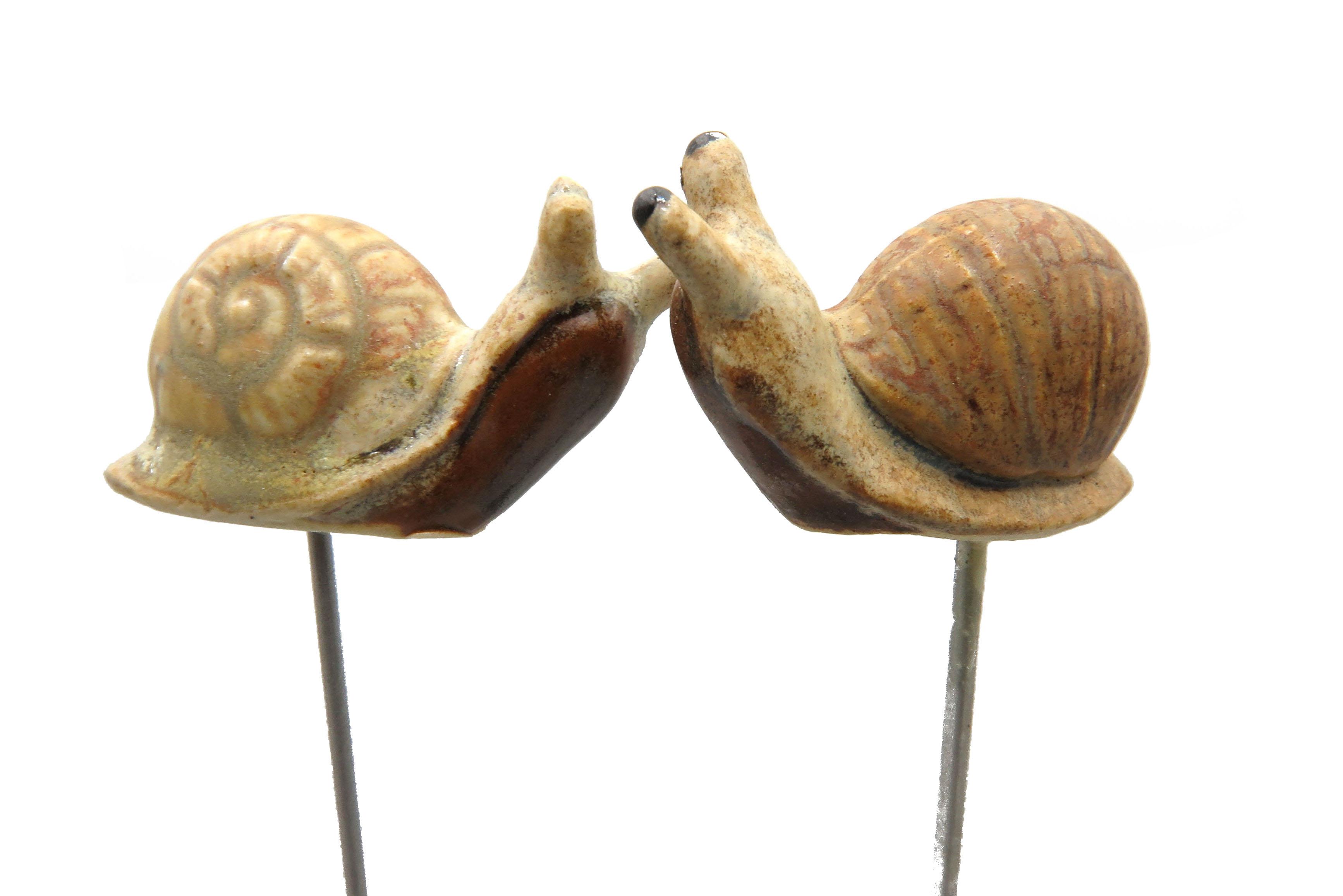 Steck- Schnecke Minigarry die Schnecke/ 4 cm