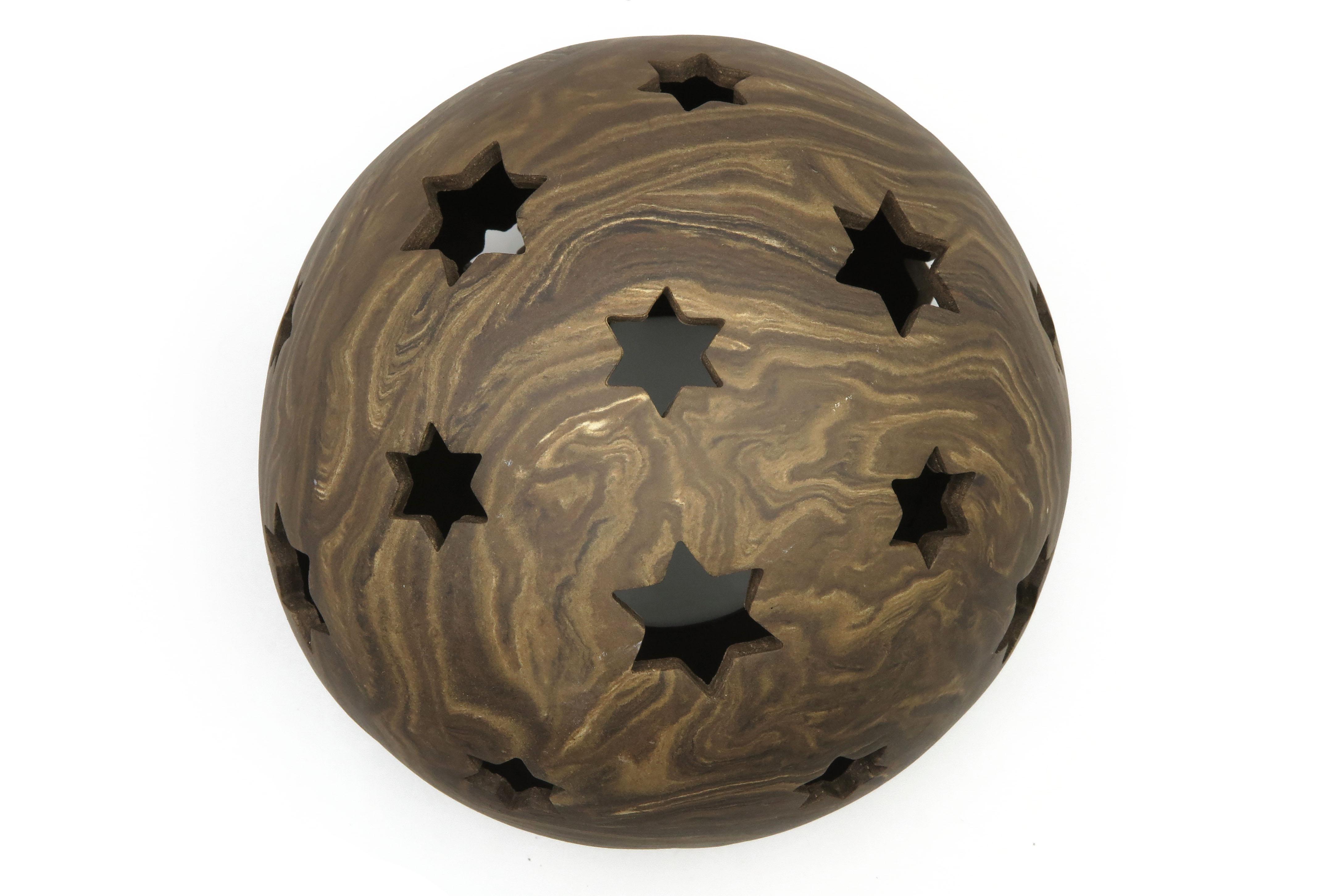Kugel zum Beleuchten in Holz Optik / M 23cm