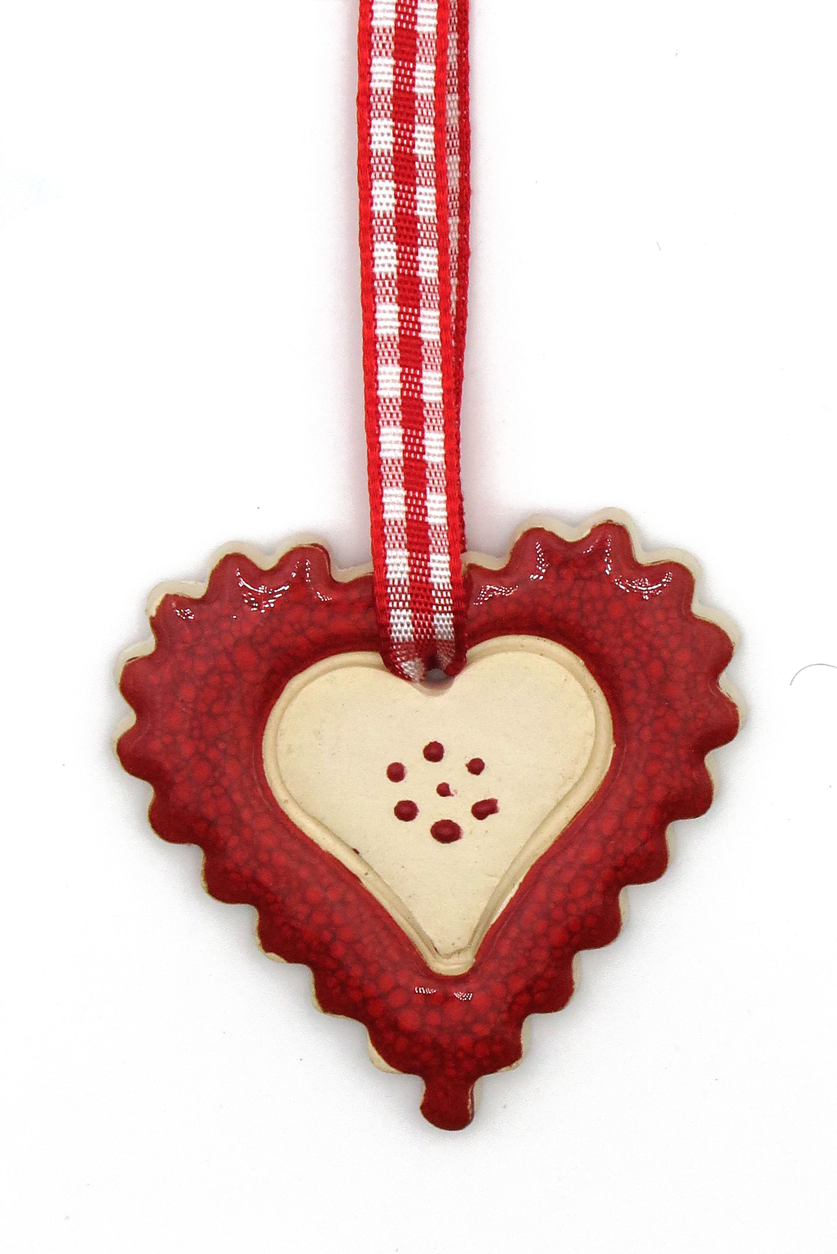 Herz Keramik Geschenk Anhänger/ M 5cm