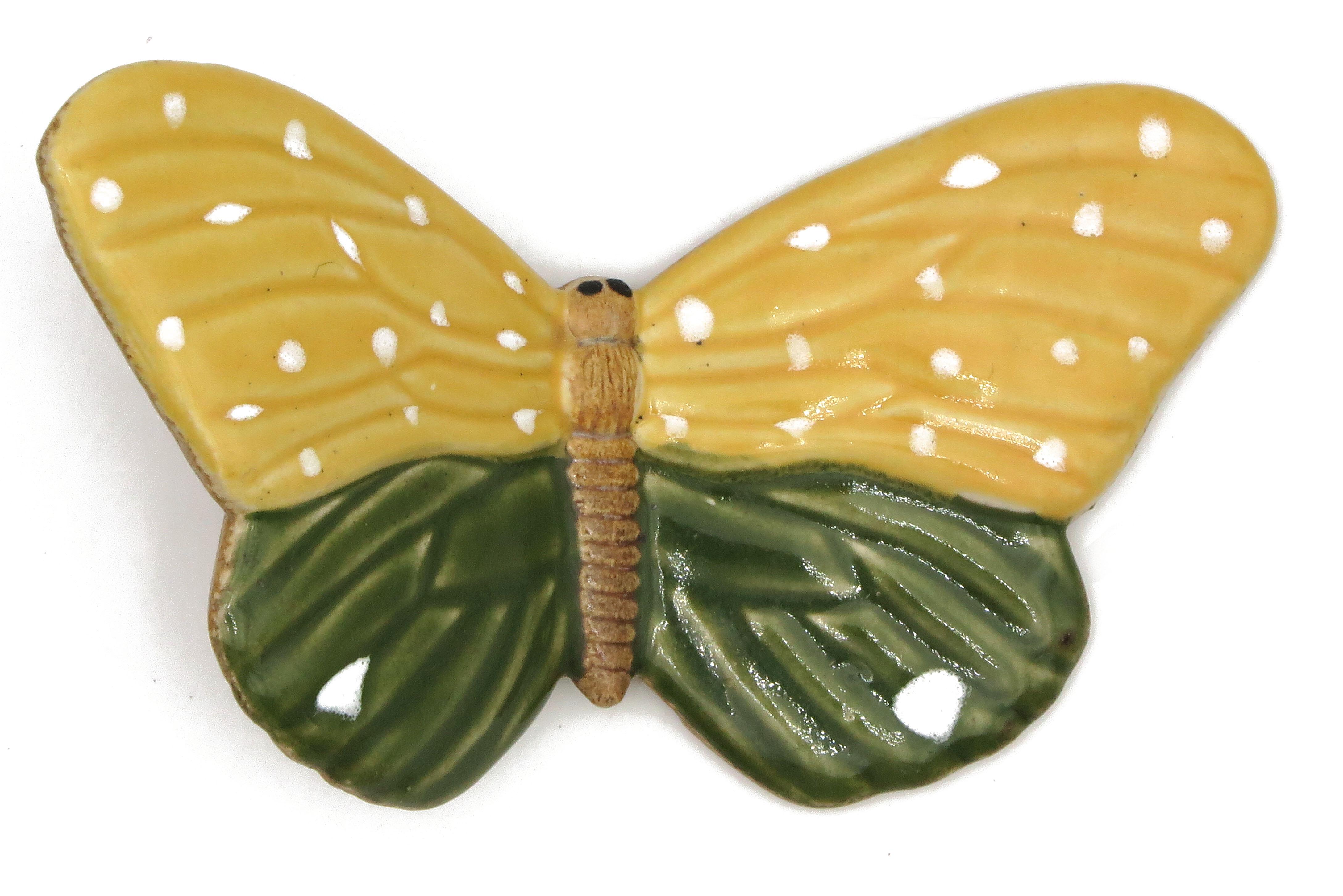 Schmetterling Grün Gelb/ M 11cm