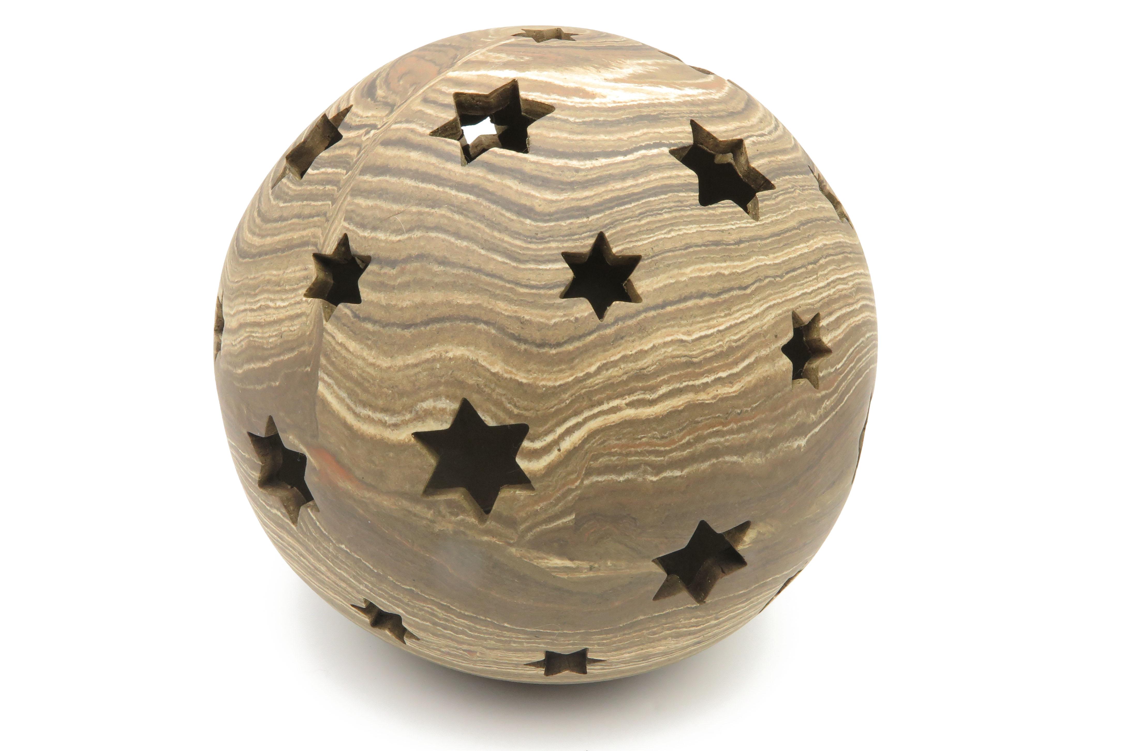 Kugel zum Beleuchten in Holz Optik / S 18cm