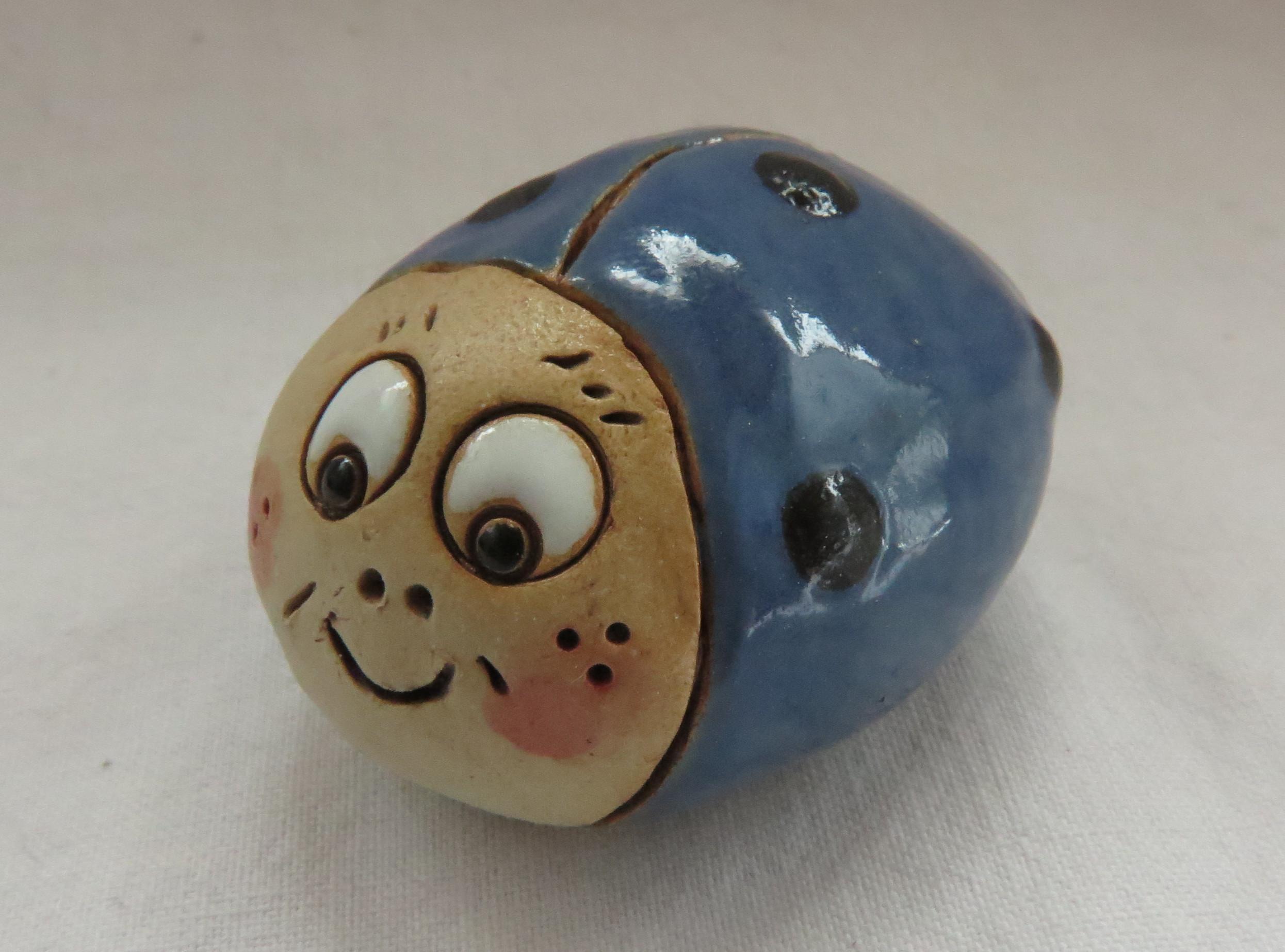Glückskäfer Summsemann denim blau/ M 4,5cm