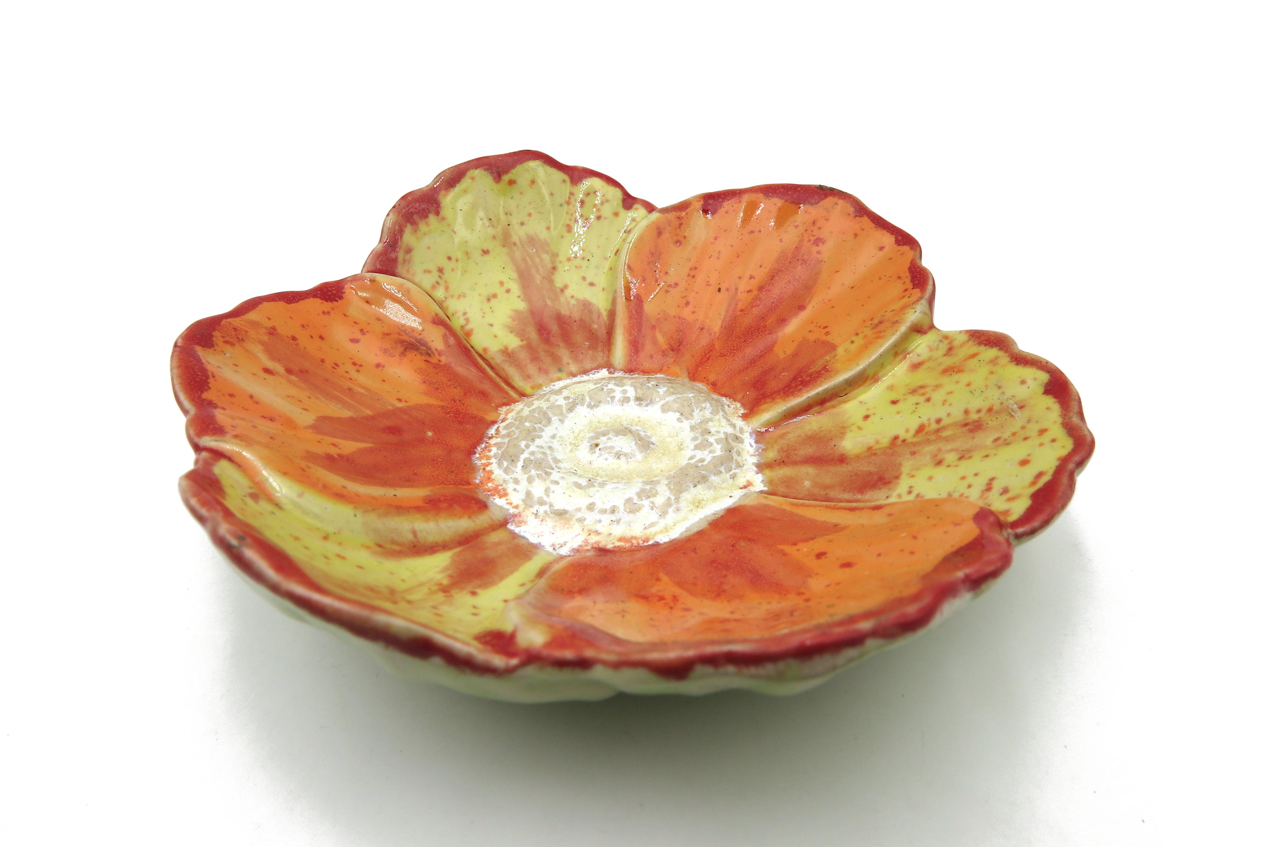 Seifenschale Mohnblume Insektentränke Vogeltränke Orange Gelb