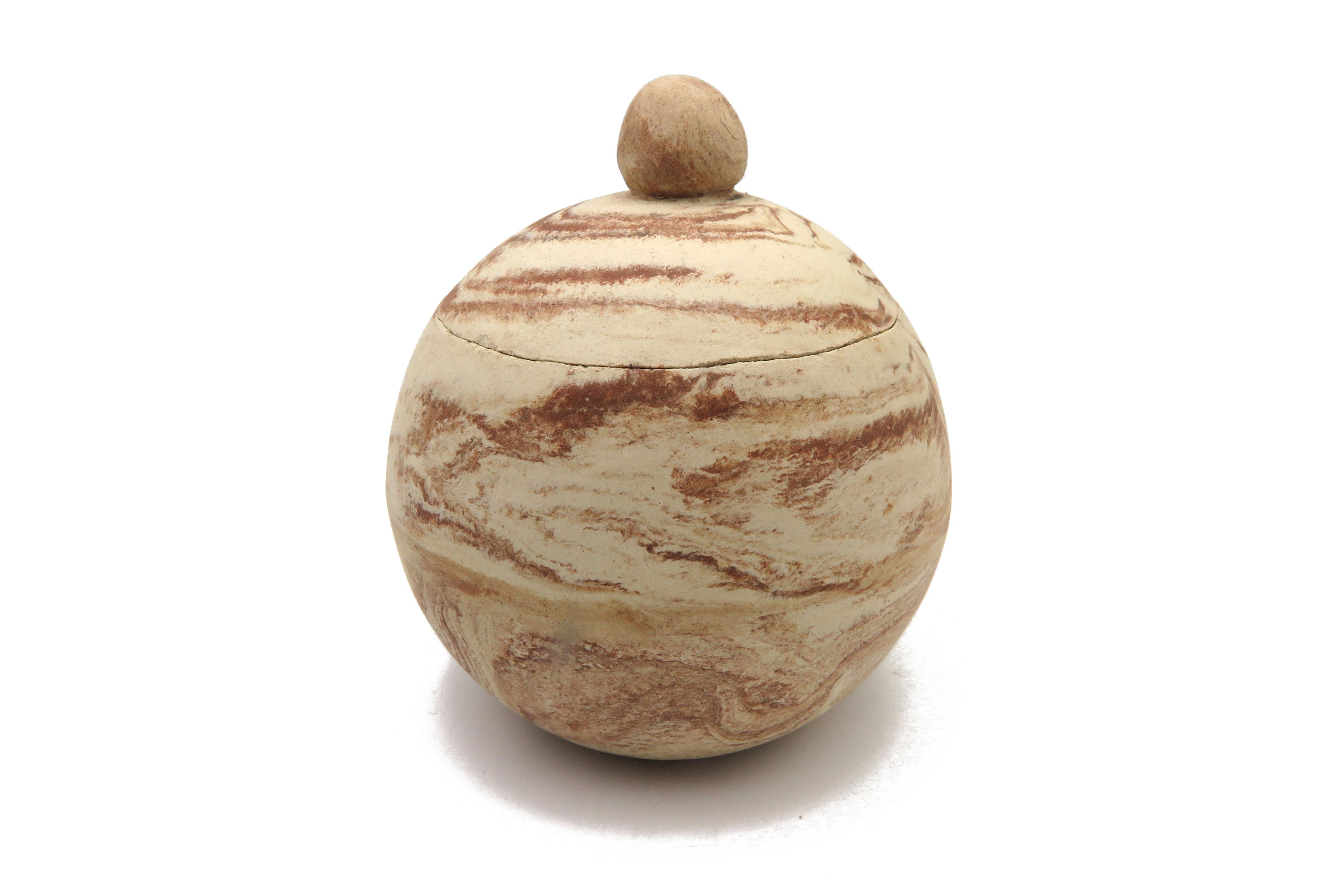 Kugeldose in Holz Optik /  S 10cm