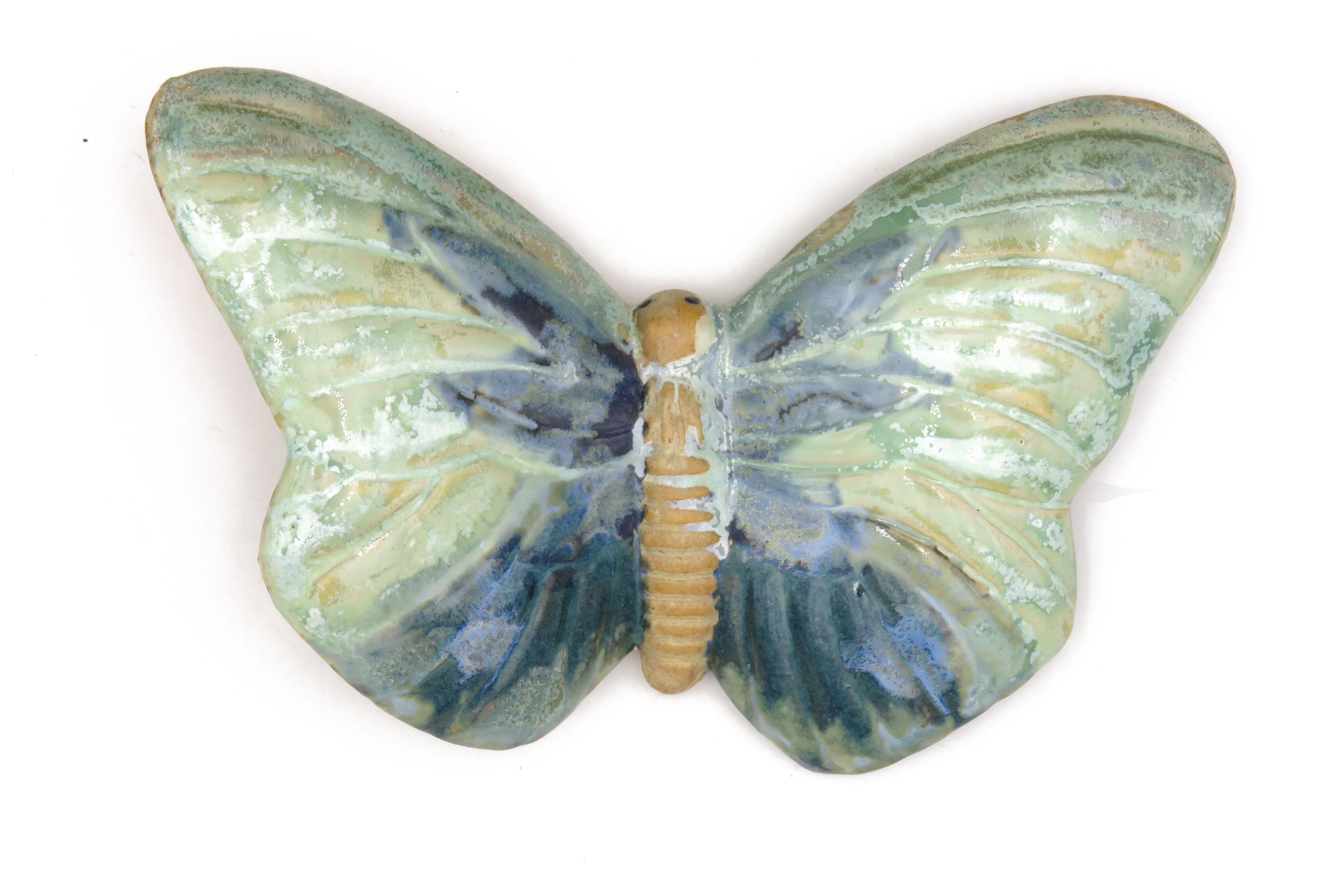 Schmetterling Grün Lavendel/ L 17 cm