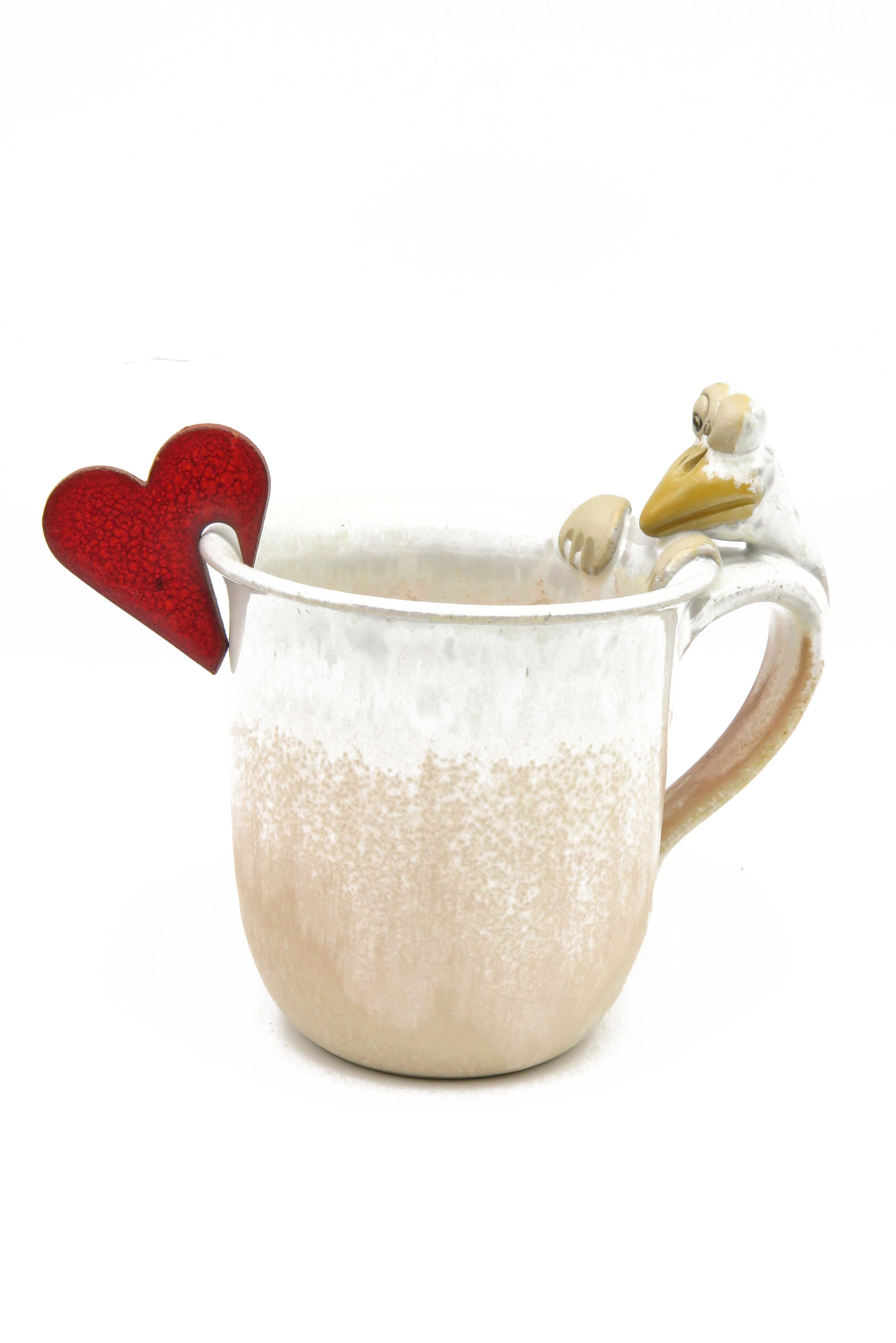 Herz Keramik  Tasse Tischschmuck/ M 4,5cm