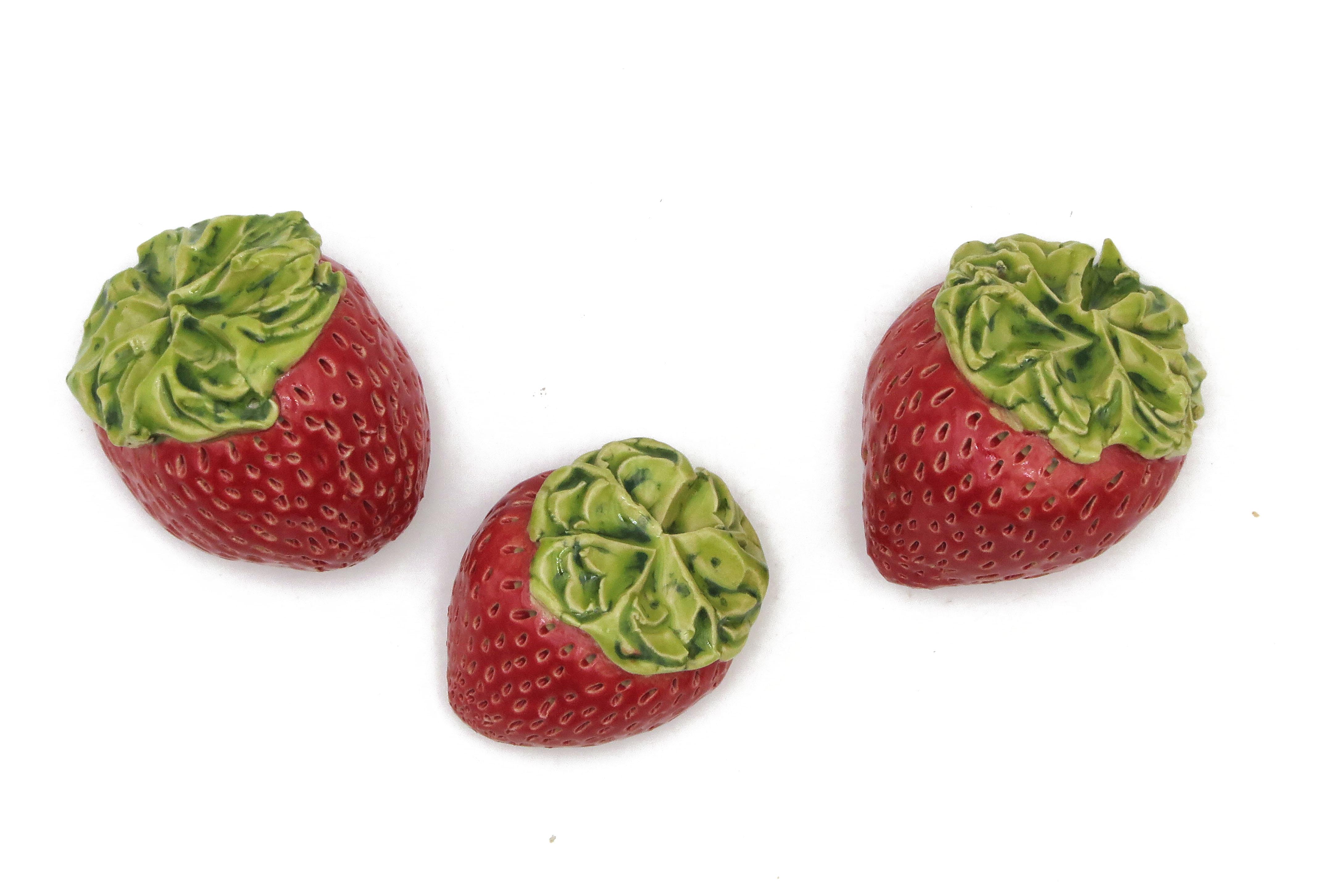 Eine Zuckersüße Erdbeere / S 4 cm