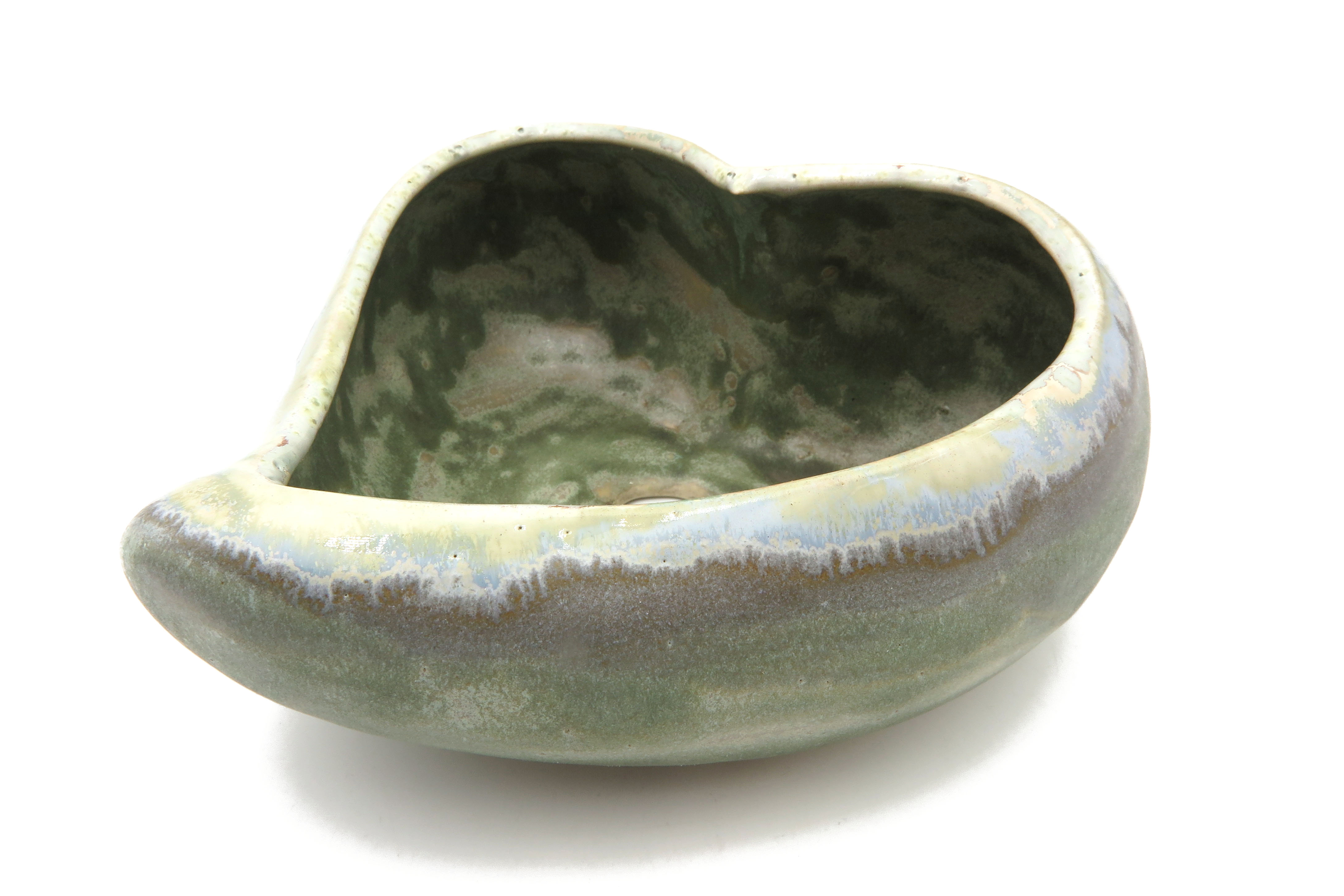 Herz zum Bepflanzen steingrau-grün/ Pflanzgefäß M
