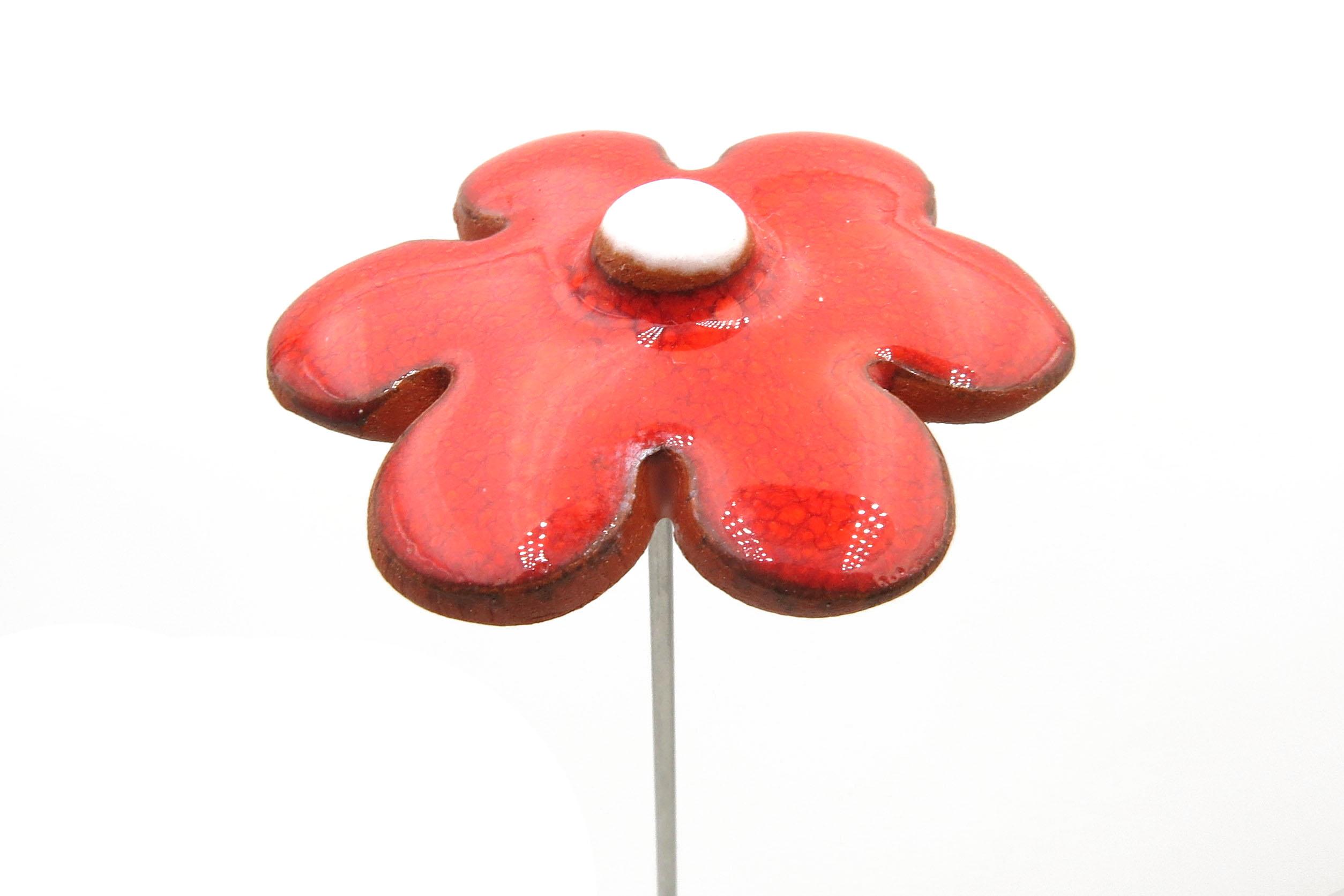 Steckblümchen Blume Weihnachten rot/ M 4,5cm