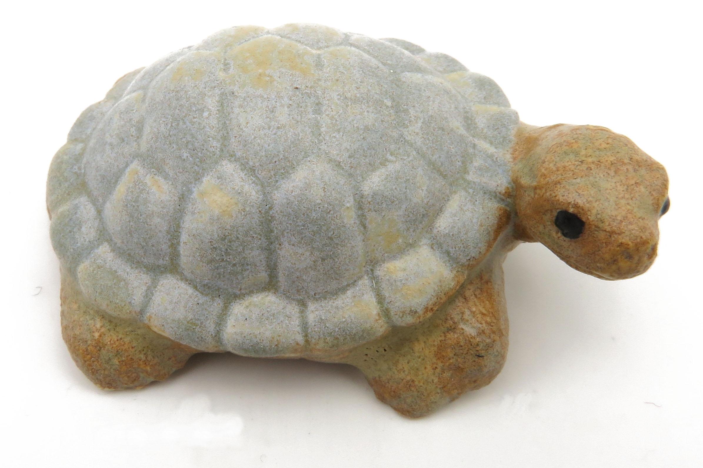 Schildkröte steinblau/ M 7cm