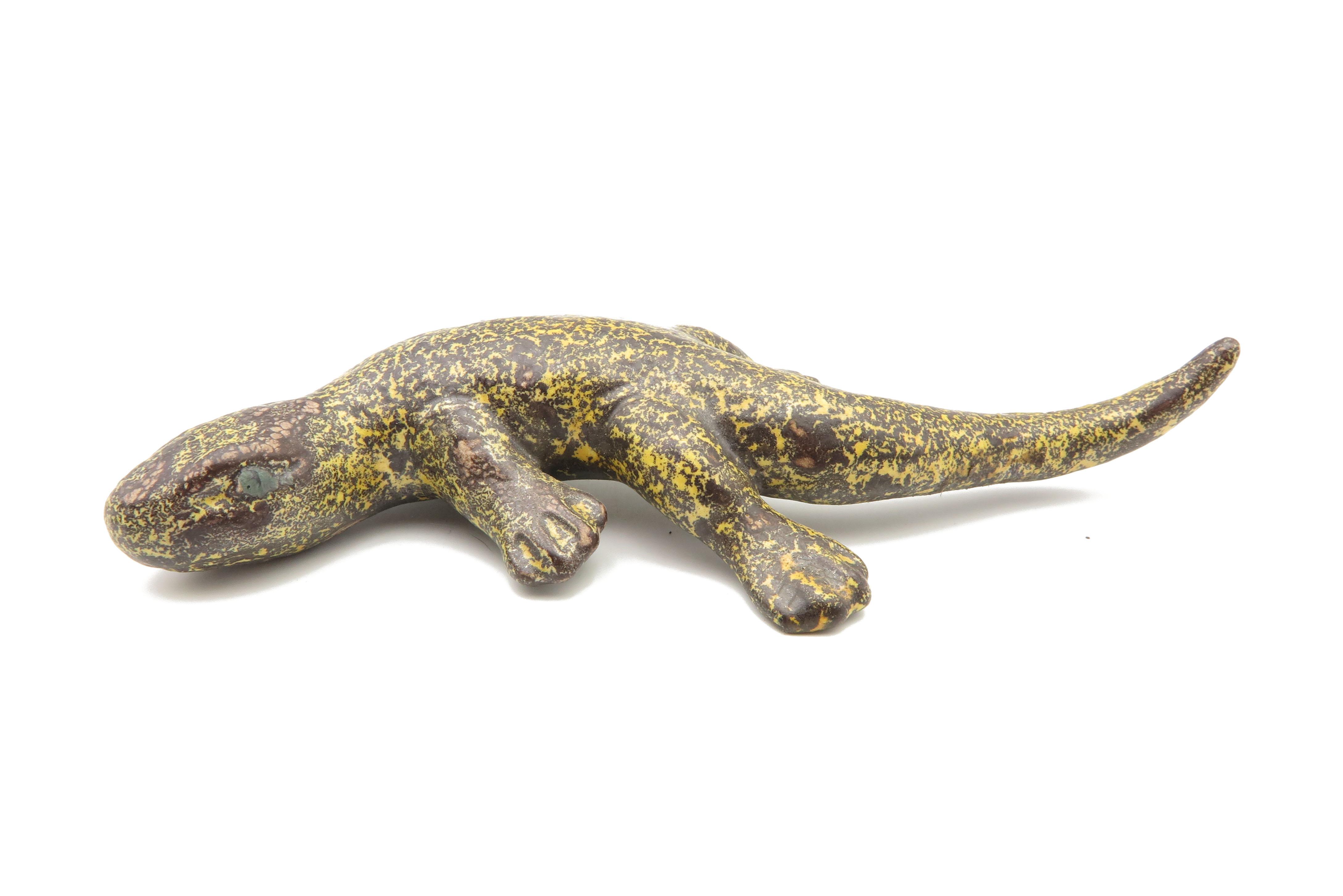 Lurch Echse Gartenkeramik Schlangenheut/ S 18 cm