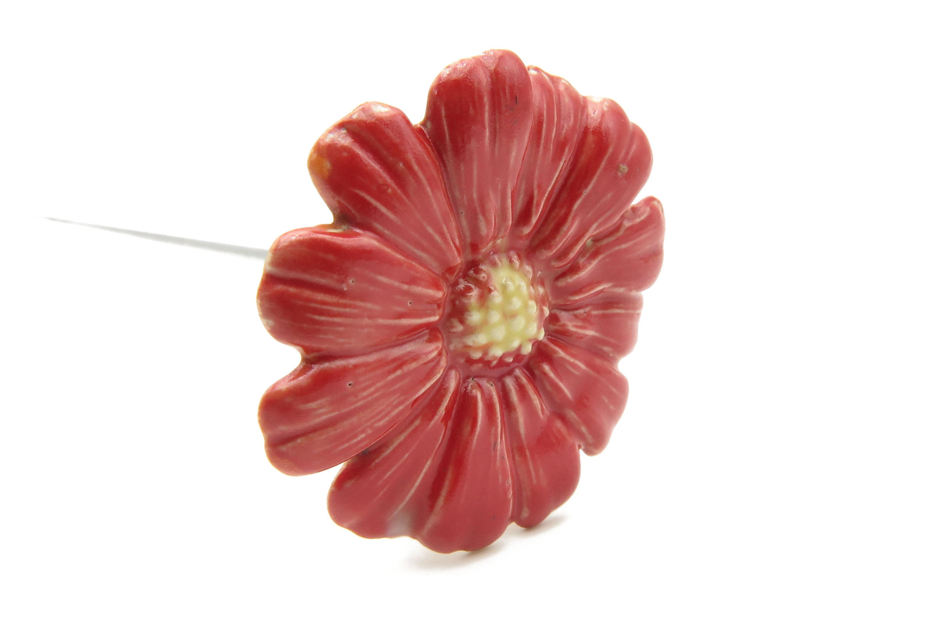 Steckblümchen  rot/ 3,5cm