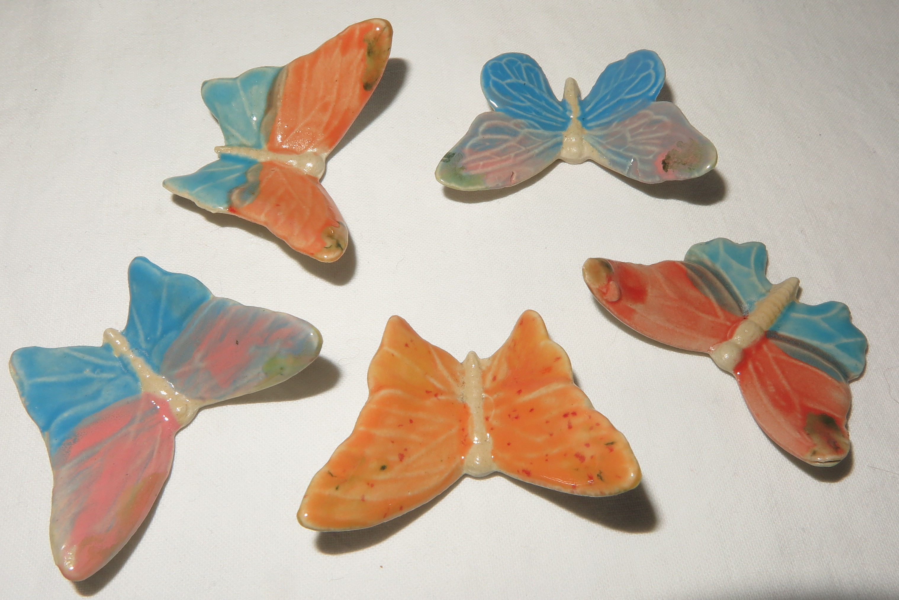 5 Schmetterlinge bunt gemischt, zum Legen