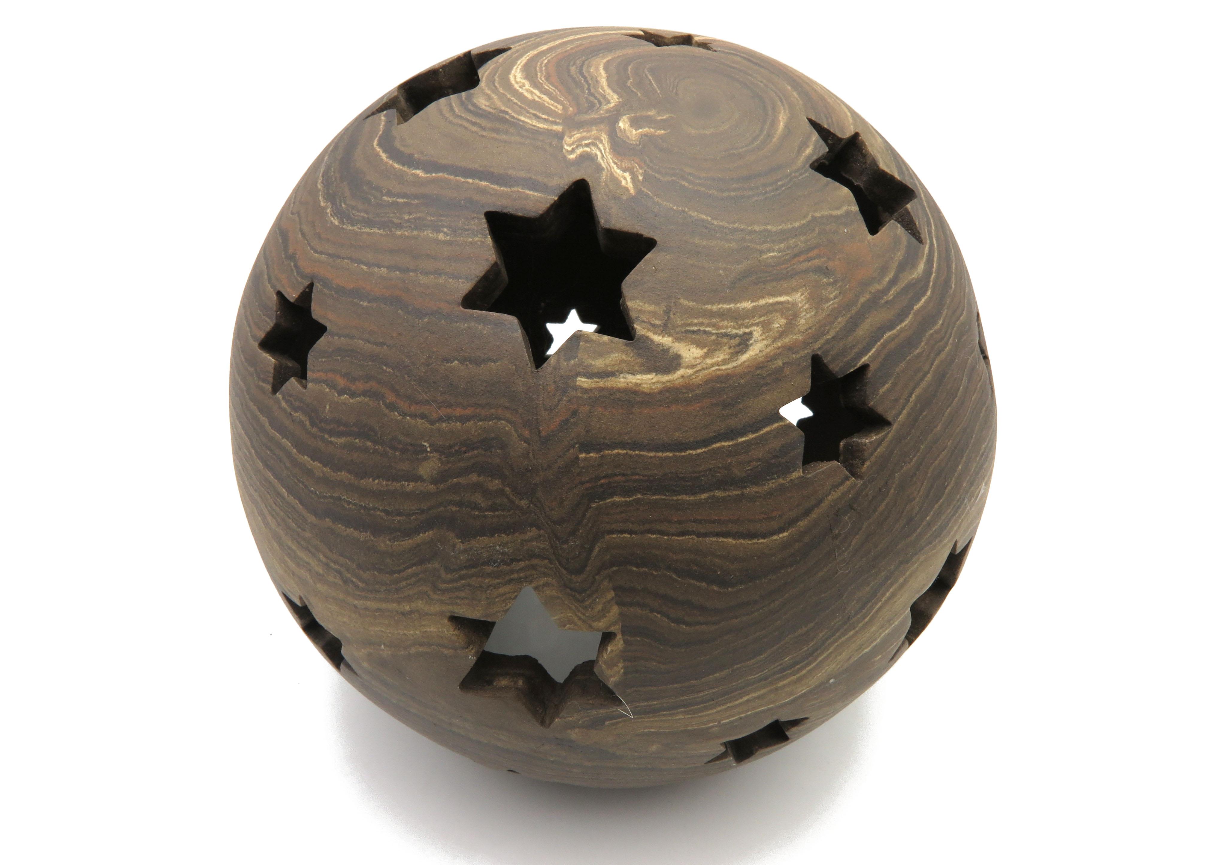 Kugel zum Beleuchten in Holz Optik / XS 16cm